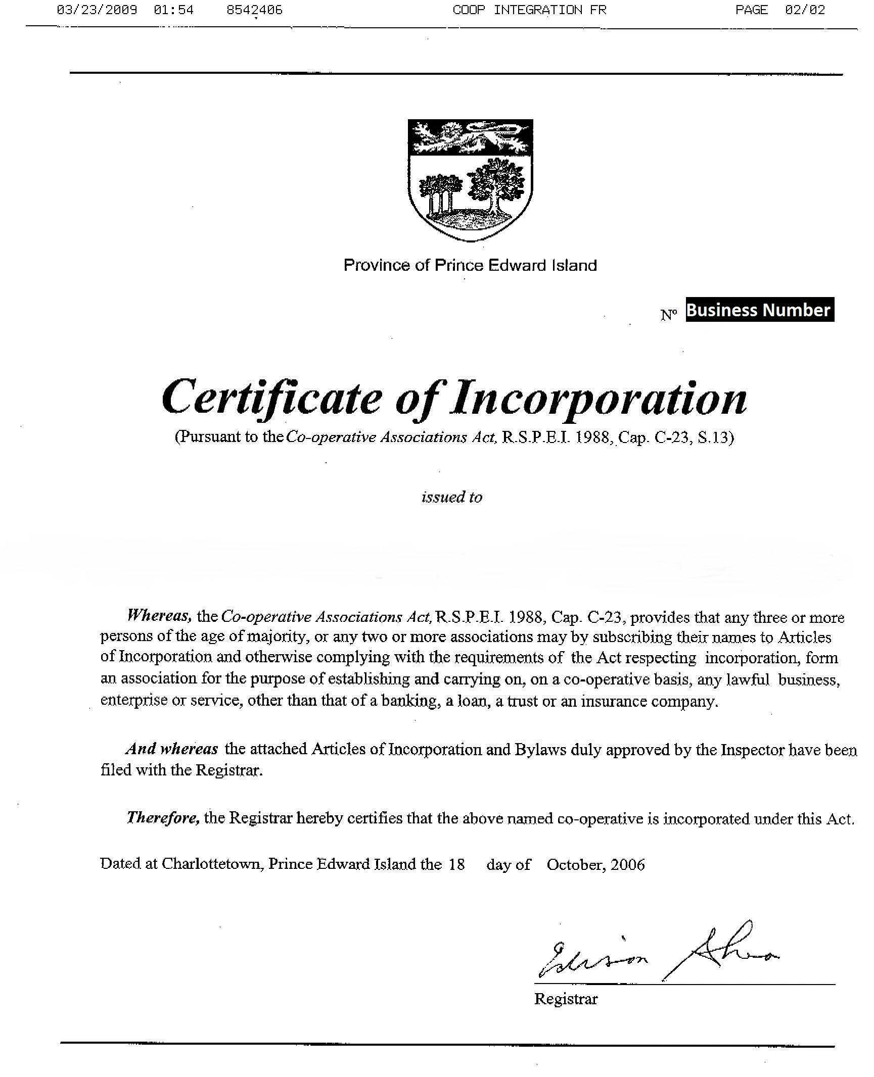 How do i register techsoup canada view example of newfoundlad certificate prince edward island the document required is letters patent issued by the province of prince edward island xflitez Gallery
