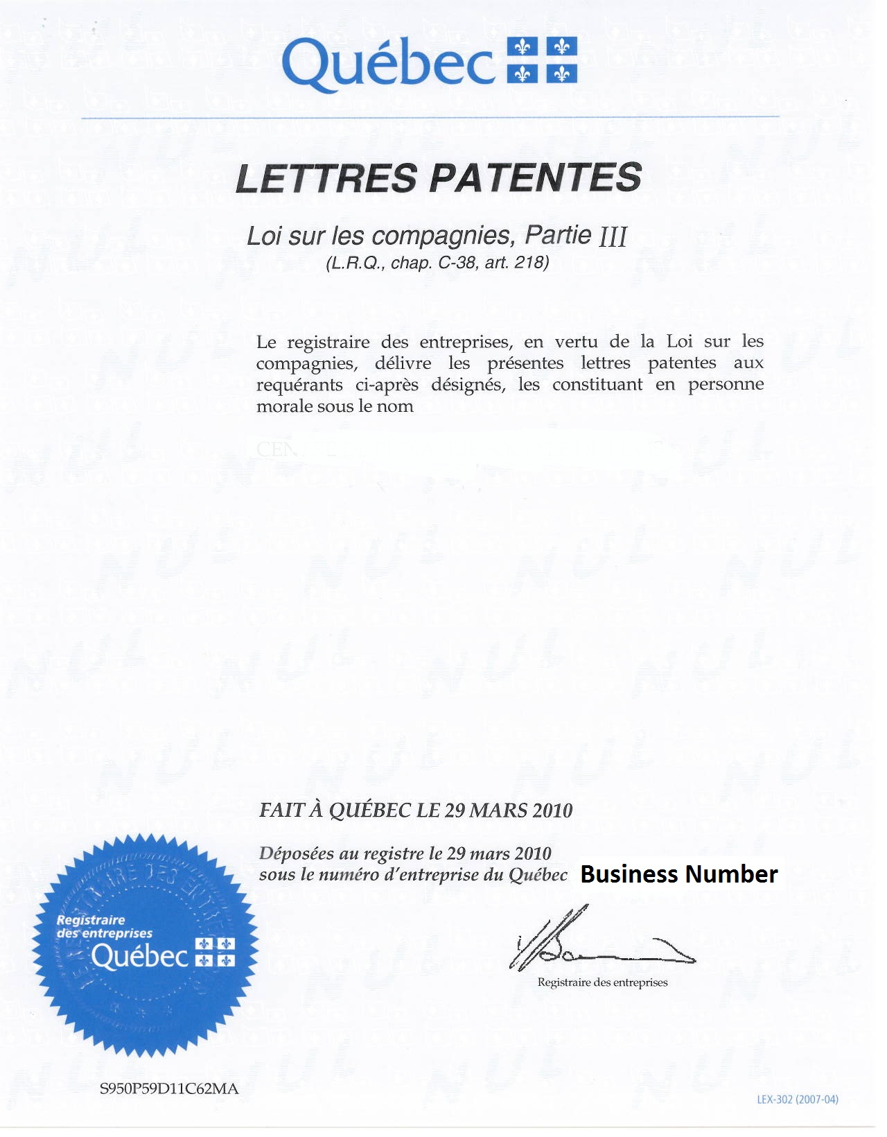 How do i register techsoup canada view example of quebec certificate xflitez Gallery