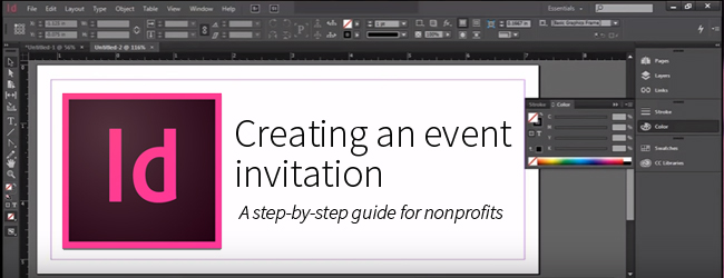 creating an event invitation using adobe indesign