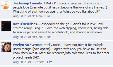 Discussion about Evernote