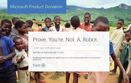 Screenshot: CAPTCHA