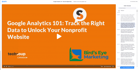 Google Analytics for Nonprofits Webinar Transcript