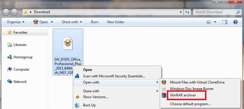 decompresser fichier iso windows 7