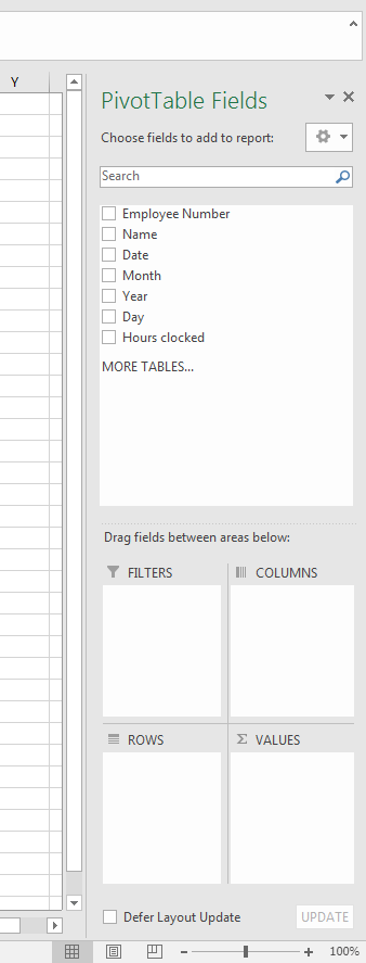 Screenshot: PivotTable Fields
