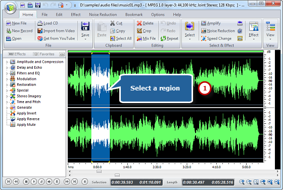 Free Audio Editor Screenshot