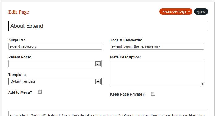 GetSimple CMS Screenshot