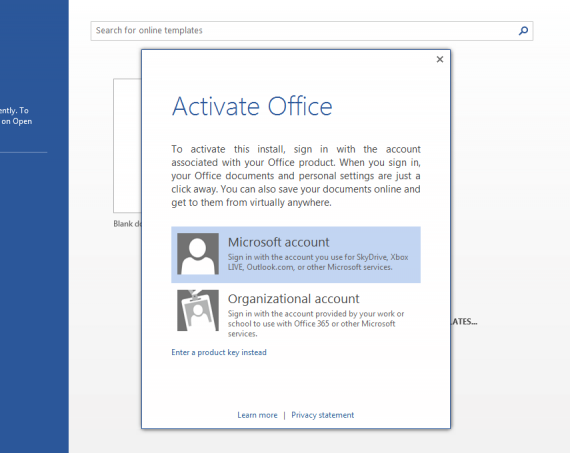 When you activate Office, you will be asked to link it to your Microsoft account.