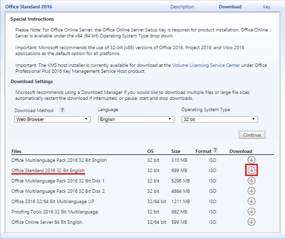 download office 2013 standard volume license iso